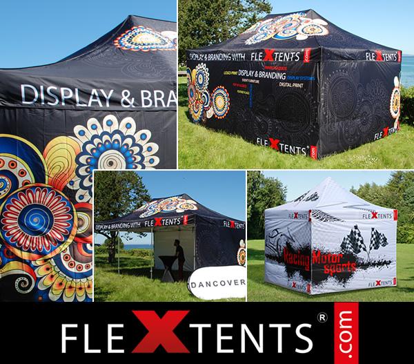 Impression numérique sur FlexTents®  – la tente pliante leader du marché