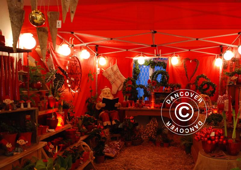 Marché de Noël dans une élégante tente de marché