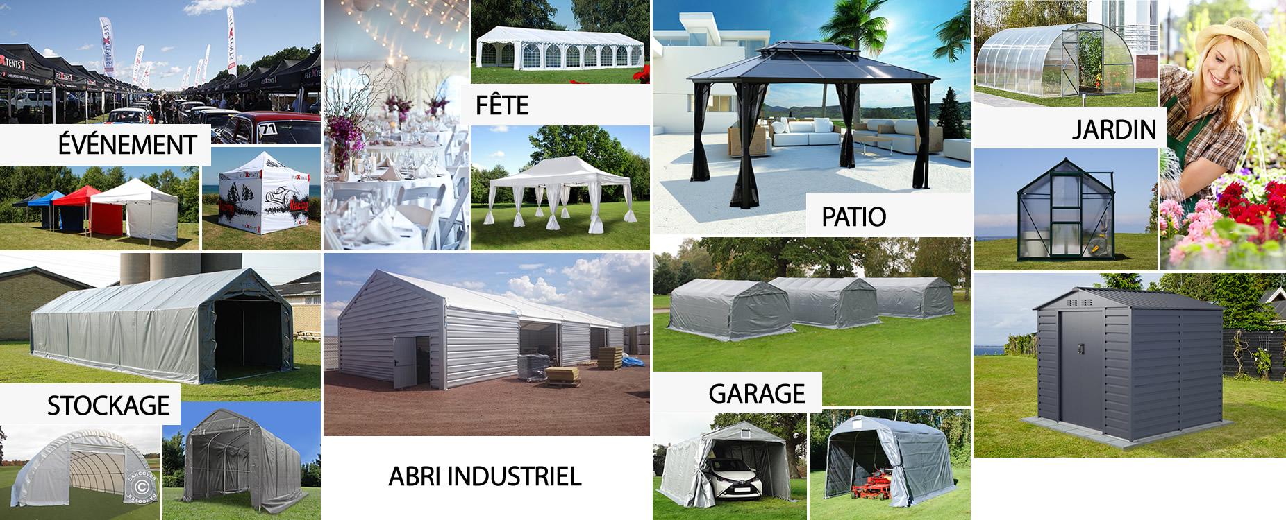 Dancover - Tentes de réception, Tentes pliantes, Tonnelles ...
